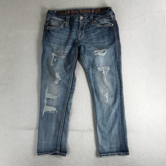 Rock Revival Yazhi Easy Crop Low Rise Jean Size 30